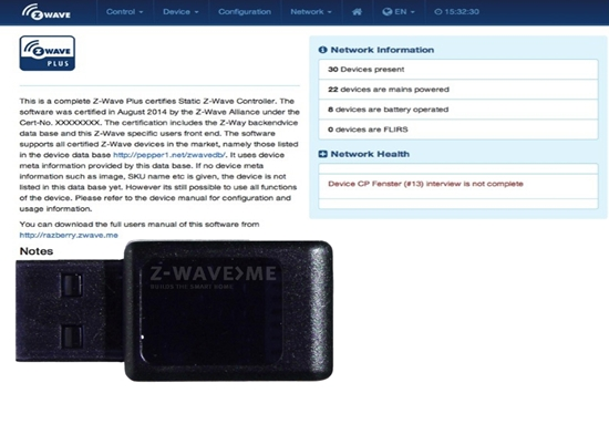 Picture of USB Stick incl. Z-Way Controller Software