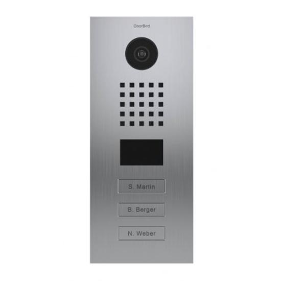 Picture of Video porteiro IP/SIP em aço inoxidável escovado prata · 3 botões