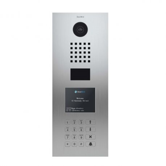 Picture of IP VIDEO DOOR STATION Brushed Stainless Steel Plate · Display Module · Keypad Module