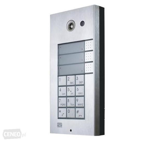 Picture of Video porteiro com câmara integrada, 3 teclas e teclado numérico
