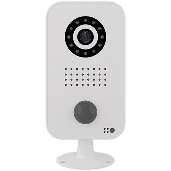 Picture of Câmara de vigilância com áudio, bidirecional em policabornato branco